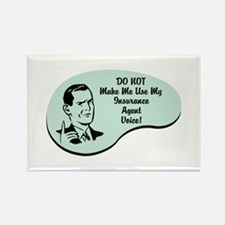 Insurance Agent Voice Rectangle Magnet