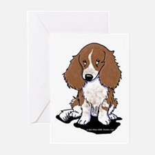 Red Piebald LH Doxie Greeting Cards (Pk of 20)