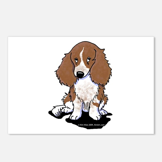 Red Piebald LH Doxie Postcards (Package of 8)
