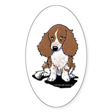 Red Piebald LH Doxie Decal