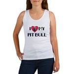PIT BULL ON BACK ALSO Women's Tank Top