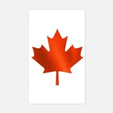 Canadian Maple Leaf Rectangle Decal