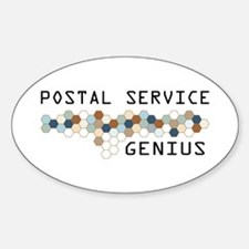 Postal Service Genius Oval Decal