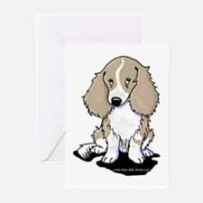 Isabella Piebald LH Doxi Greeting Cards (Pk of 20)