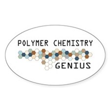 Polymer Chemistry Genius Oval Decal
