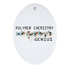 Polymer Chemistry Genius Oval Ornament