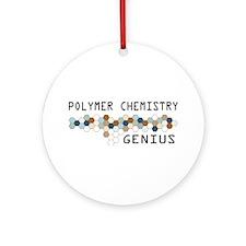 Polymer Chemistry Genius Ornament (Round)