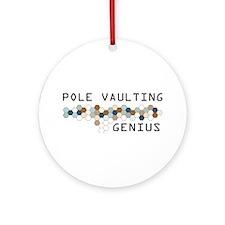 Pole Vaulting Genius Ornament (Round)