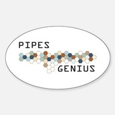 Pipes Genius Oval Decal