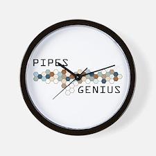 Pipes Genius Wall Clock