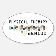 Physical Therapy Genius Oval Decal