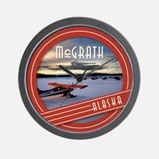 McGrath Alaska Vintage Label Wall Clock