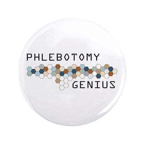 "Phlebotomy Genius 3.5"" Button"