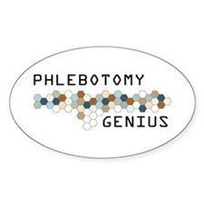Phlebotomy Genius Oval Decal