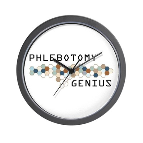 Phlebotomy Genius Wall Clock