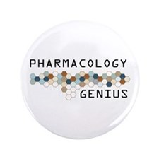 "Pharmacology Genius 3.5"" Button (100 pack)"
