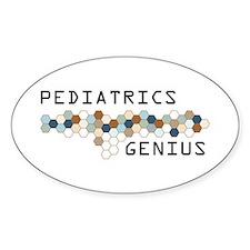 Pediatrics Genius Oval Decal