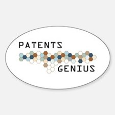 Patents Genius Oval Decal