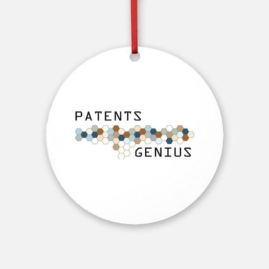 Patents Genius Ornament (Round)