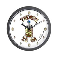 "The War Is On - 10"" Wall Clock - B"