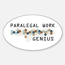 Paralegal Work Genius Oval Decal