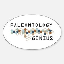 Paleontology Genius Oval Decal