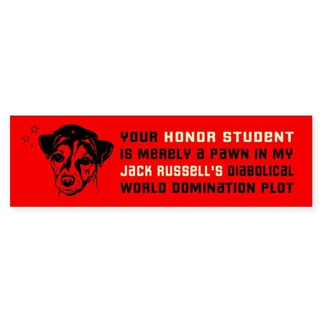 Jack Russell Terrier Honor Student Sticker