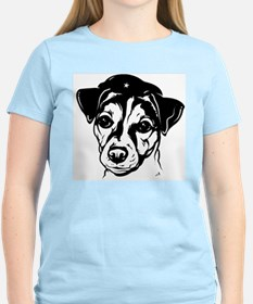 Obey the Jack Russell! Women's Pink T-Shirt