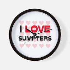 I LOVE SUMPTERS Wall Clock