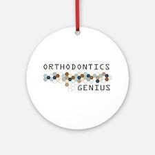 Orthodontics Genius Ornament (Round)