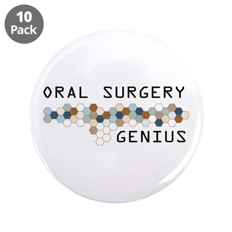 "Oral Surgery Genius 3.5"" Button (10 pack)"