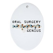 Oral Surgery Genius Oval Ornament