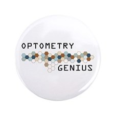 "Optometry Genius 3.5"" Button"