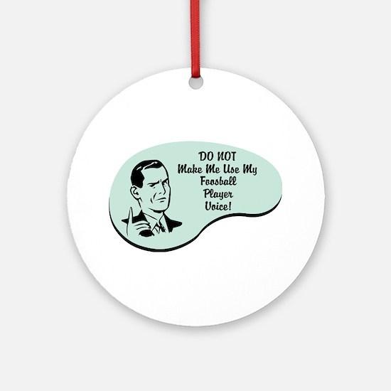 Foosball Player Voice Ornament (Round)