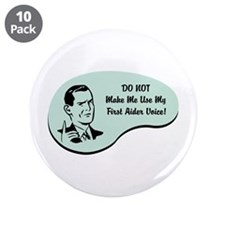 """First Aider Voice 3.5"""" Button (10 pack)"""