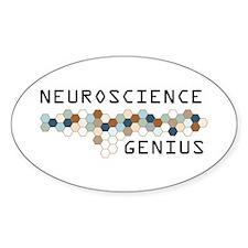 Neuroscience Genius Oval Decal