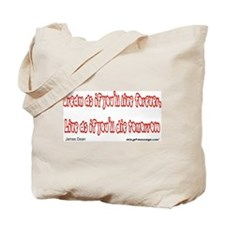 Dream as if...Quote Tote Bag