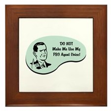 FBI Agent Voice Framed Tile