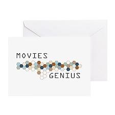 Movies Genius Greeting Card