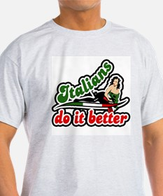 classic retro italians do it better Ash T-Shirt