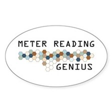 Meter Reading Genius Oval Decal