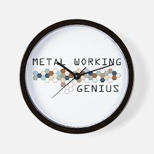 Metal Working Genius Wall Clock