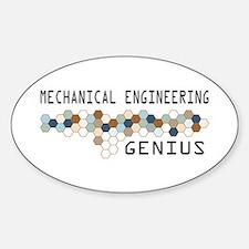 Mechanical Engineering Genius Oval Decal