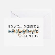 Mechanical Engineering Genius Greeting Card