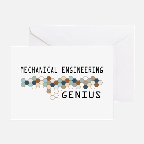 Mechanical Engineering Genius Greeting Card