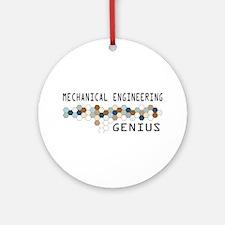 Mechanical Engineering Genius Ornament (Round)