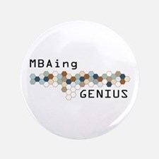 "MBAing Genius 3.5"" Button (100 pack)"