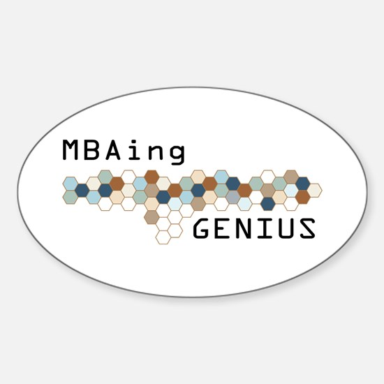 MBAing Genius Oval Decal