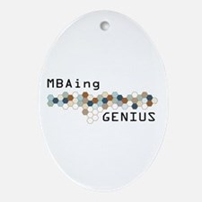MBAing Genius Oval Ornament