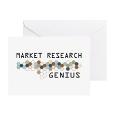 Market Research Genius Greeting Card